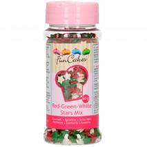 Sprinkles Mix Estrellas roja-verde- blanca 60 g