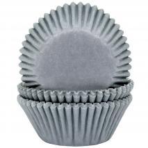 Papel cupcakes x50 gris