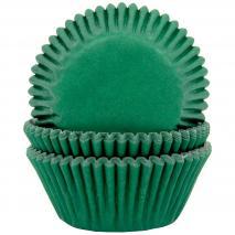 Papel cupcakes x50 verde oscuro