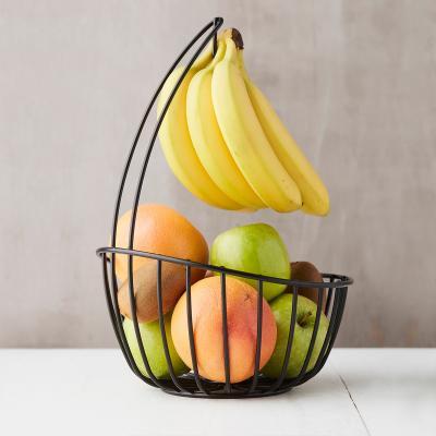 Cesta frutero con soporte plátanos