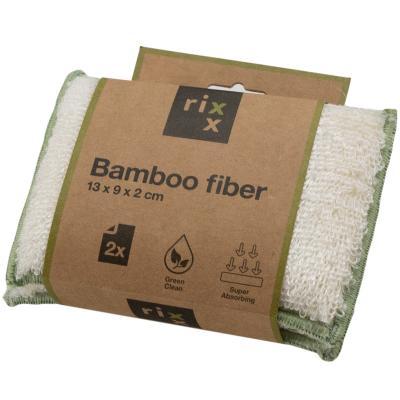 2 esponjas fregaplatos fibra de bambú