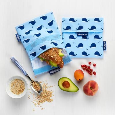 Bolsa Porta snacks Snack'n Go Animals Ballenas
