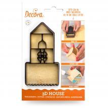Cortador galletas plástico Casa 3D Ginger