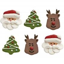 Set 6 decoraciones de azúcar Navidad