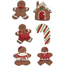 Set 6 decoraciones de azúcar Pan de Jengibre