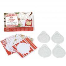 Set moldes chocolate y tarjetas Christmas Cards