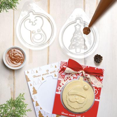 Set moldes chocolate y tarjetas Christmas Cards
