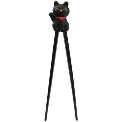 Palillos japoneses para niños gato de la suerte