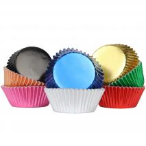 Papel cupcakes metalizados x100 colores