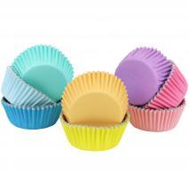 Papel cupcakes x100 colores pastel