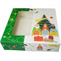 Caja para Roscón de Reyes Estrella 28x28