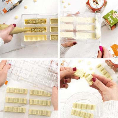 Molde policarbonato para bombones Tableta Círculo