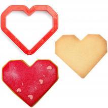 Tallador galetes plàstic Heart