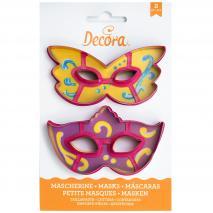 Set 2 cortadores galletas plástico Máscaras