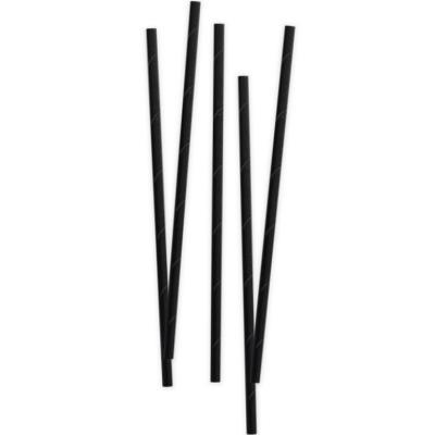 Set de 80 pajitas papel bio negro