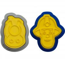 Set 2 tallador-marcador galetes plàstic Bomber Sam