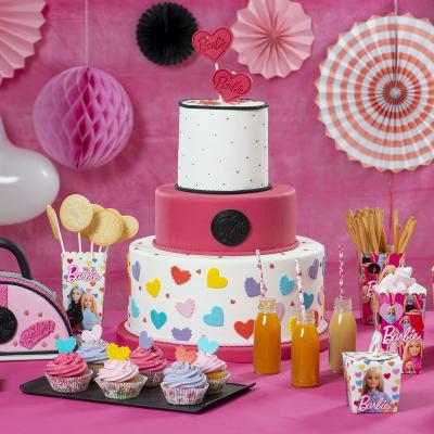 Papel cupcakes x36 Barbie