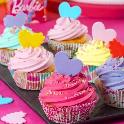 Papel cupcakes x36 Barbie