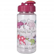 Botella agua con pajita Elefantes