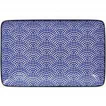 Safata Nippon Blue dots 21x13 cm
