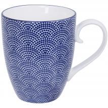 Taza té japonés Nippon blue 380 ml dots