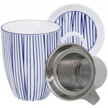 Set mug con filtro Nippon Blue líneas