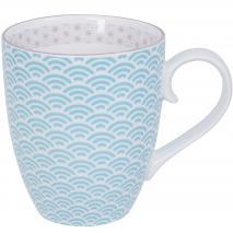 Taza mug té japonés Wave con asa