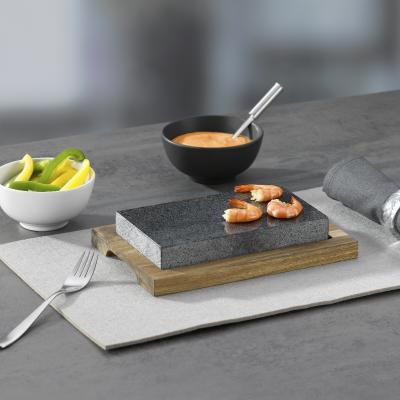 Piedra de carne con base madera 24x16 cm