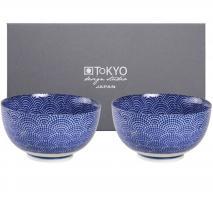 Set japonès blau 2 bols arròs dots