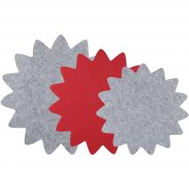 Protectores sartenes y cazuelas x3 gris/rojo