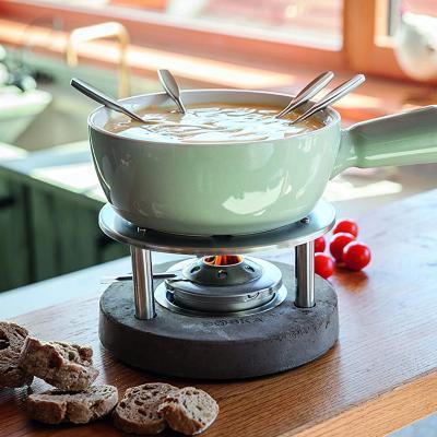 Set 4 tenedores para fondue mango acero