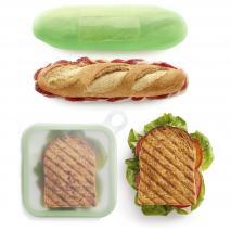 Set 2 fundas silicona sandwich y bocata Lekue