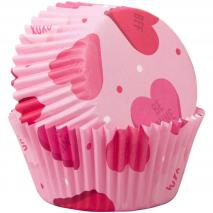 Papel cupcakes x75 Hearts
