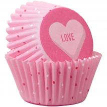 Papel mini cupcakes x100 Love