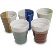 Set 5 vasos japoneses Zen