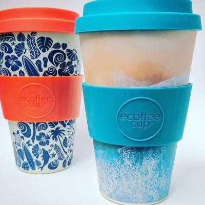 Taza bambú con tapa New Ecoffee 400 ml Porthcurno