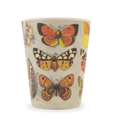 Taza bambú con tapa New Ecoffee 340 ml Farfalle