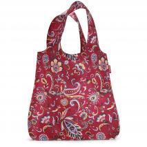 Bolsa compra plegable shopper Paisley ruby