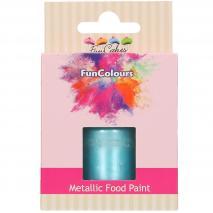 Pintura alimentaria metálica 30 ml Baby Blue