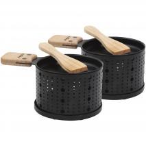 Set 2 Raclettes individuals 10 cm