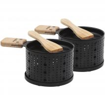 Set 2 Raclettes individuales 10 cm