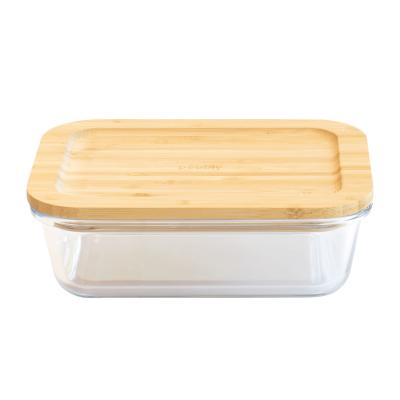 Tupper cristal borosilicato con tapa bambú Pebbly