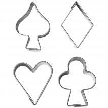 Set 4 talladors galetes Joc de cartes 3 cm