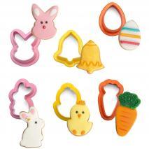 Set 6 cortadores galletas mini Pascua