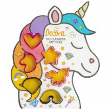 Set 6 cortadores galletas mini Unicornio