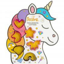 Set 6 talladors galetes mini Unicorn