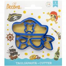 Cortador galletas plástico Máscara Pirata
