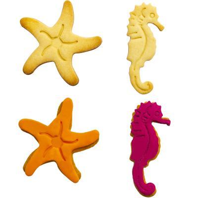 Set 2 cortadores galletas plástico Estrella Caball
