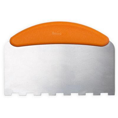 Espátula rasqueta pastelería dentada inox 22x11 cm