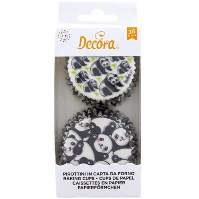 Papel cupcakes x36 Panda